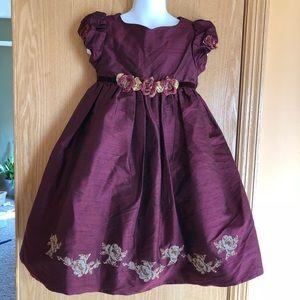 Biscotti silk burgundy formal dress